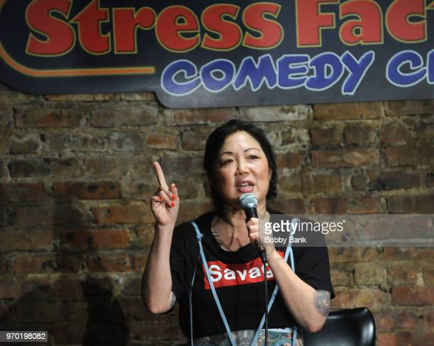 Margaret Cho performs at The Stress Factory Comedy Club on June 8, 2018 in New Brunswick, New Jersey.
