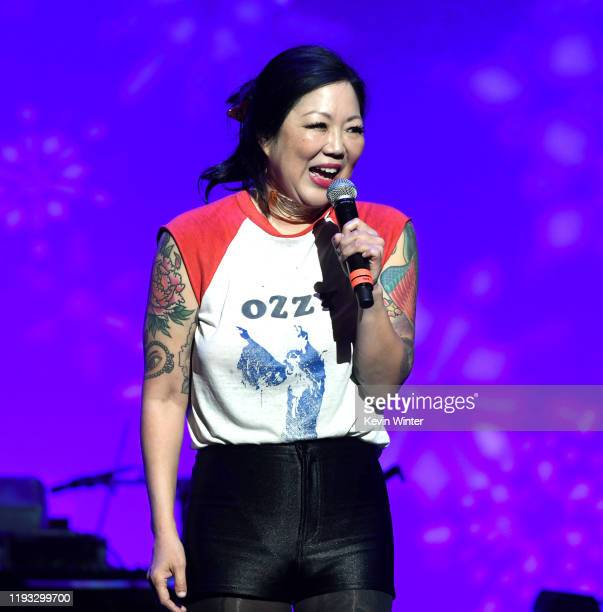 Margaret Cho performs onstage at the Cyndi Lauper And Friends: Home For The Holidays Benefit at The Novo by Microsoft on December 10, 2019 in Los...