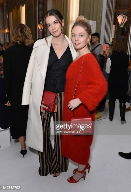 Margaret Clooney and Nell Hudson attend the Jasper Conran show during London Fashion Week September 2017 on September 16 2017 in London England