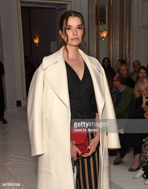 Margaret Clooney attends the Jasper Conran SS18 catwalk show during London Fashion Week September 2017 on September 16 2017 in London United Kingdom