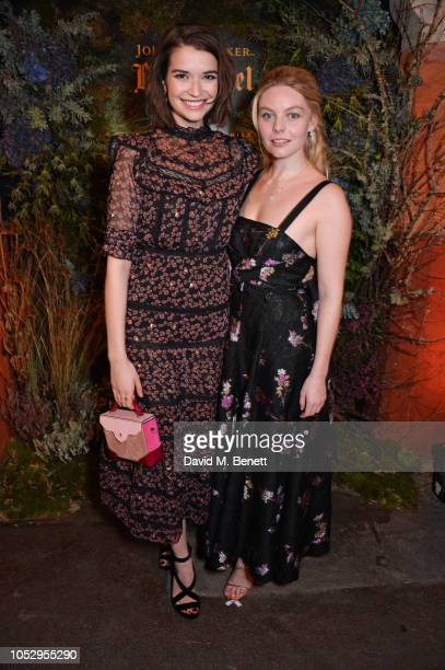 Margaret Clunie and Nell Hudson attend the unveiling of Johnnie Walker Blue Label Ghost and Rare Port Ellen at The Welsh Chapel on October 24 2018 in...