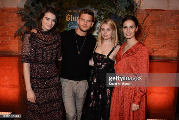 Margaret Clunie Jeremy Irvine Nell Hudson and Heida Reed attend the unveiling of Johnnie Walker Blue Label Ghost and Rare Port Ellen at The Welsh...