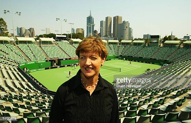 Margaret Court pictured after it was announced that Court One at Melbourne Park was renamed the Margaret Court Arena at Melbourne Park in Melbourne,...