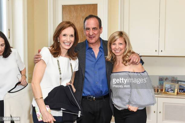 Margaret Crotty John and Guest attend Riley Versa x La Ligne Party at 1220 Park Ave on April 26 2018 in New York City Margaret Crotty