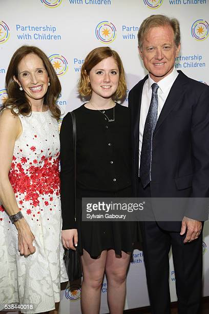 Margaret Crotty Lena Redford and James Redford attend the Partnership with Children's Spring Gala 2016 at 583 Park Avenue on June 6 2016 in New York...
