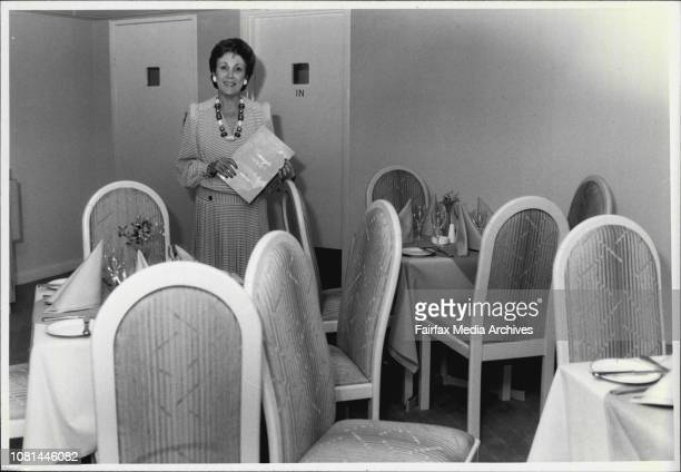 Margaret Cussan in her Connaught Restaurant and so me general views Connayght Building Whitlam Square February 19 1985