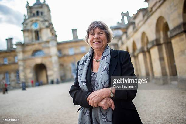 Margaret Drabble writer during the Blenheim Palace Literary Festival at Blenheim Palace on September 24 2015 in Woodstock England