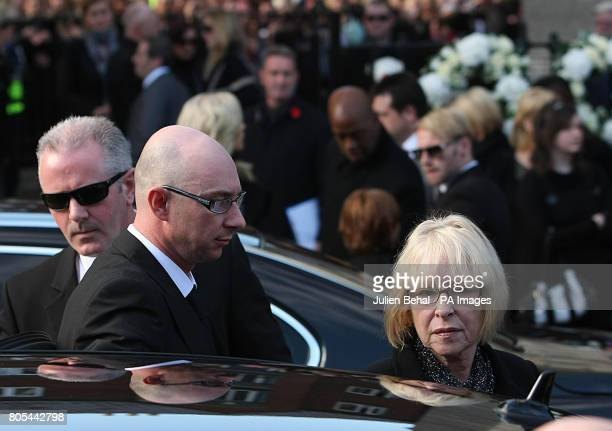 Margaret Gatley arrives for the funeral of her son Stephen Gately at St Laurence O'Toole church in Dublin