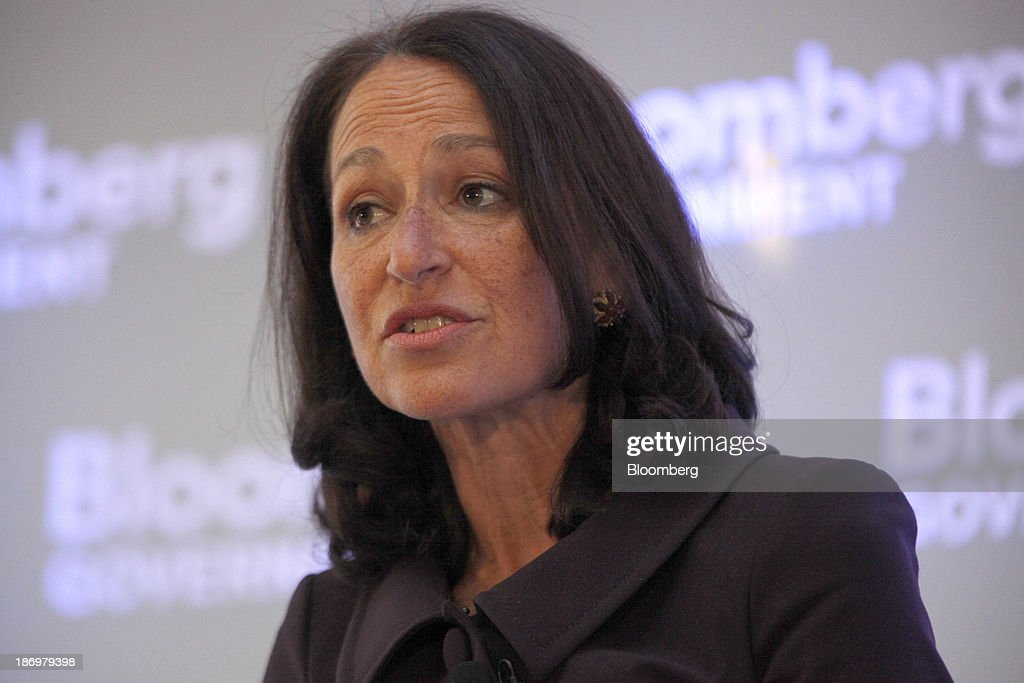 Margaret Hamburg, commissioner of the Food and Drug Administration (FDA), speaks at Bloomberg Government's 'Mind The Gap: Connecting Health Care Policy with Next Century Innovation' conference in Washington, D.C., U.S., on Tuesday, Nov. 5, 2013. The conference brings together business and government leaders to discuss the transformation of health care through technology and innovation. Photographer: Julia Schmalz/Bloomberg via Getty Images Margaret Hamburg