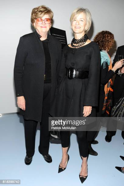 Margaret Hayes and Dana Buchman attend DVF Art Ortenberg Celebrate the Liz Claiborne Fashion Scholarship at DVF Studio on February 3 2010 in New York...
