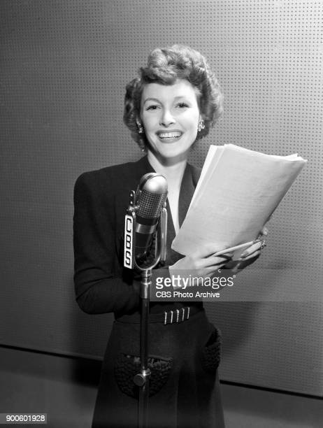 Margaret Hayes guest stars on the CBS Radio drama program Silver Theater Presentation of The Magic Darkness Image dated March 16 1941 Hollywood CA