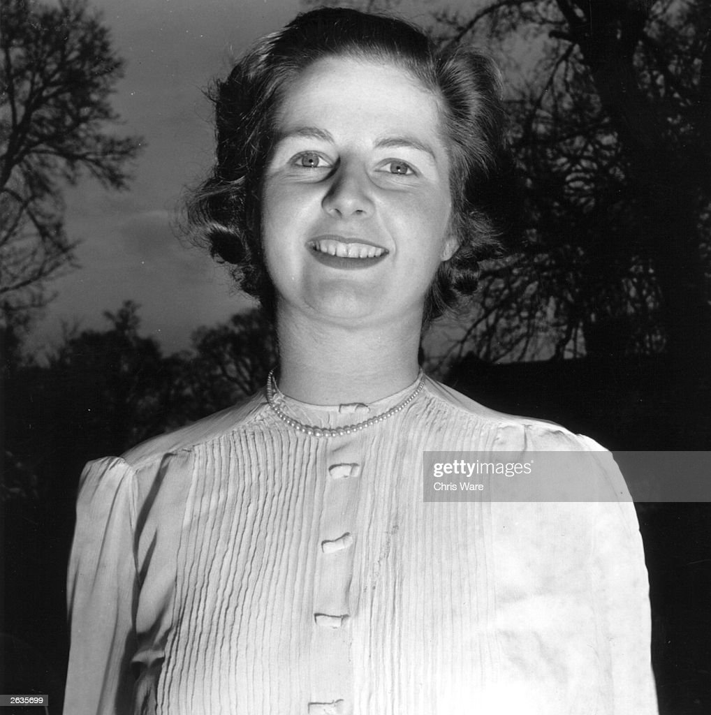 Margaret Hilda Thatcher, nee Roberts, as the Conservative candidate for Dartford, Kent, and before she married husband Denis.
