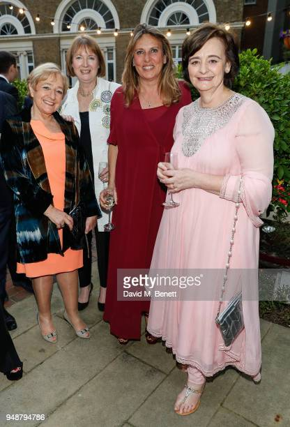 Margaret Hodge Harriet Harman guest and Cherie Blair attend the ENO Gala 2018 A Celebration of Women in Opera at Gibson Hall on April 19 2018 in...