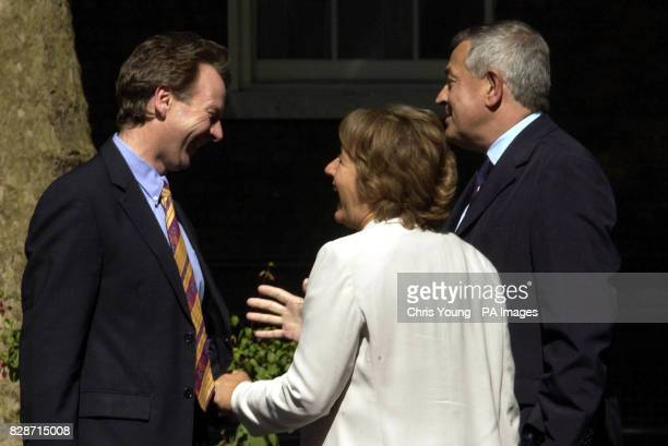 Margaret Hodge is congratulated by colleagues Chris Pond and Malcom Wickes outside Downing Street The former Schools Minister has been appointed as...