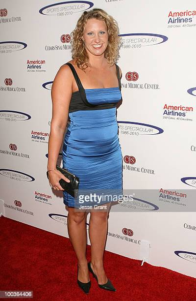 Margaret Hoelzer arrives at the 25th anniversary of CedarsSinai Sports Spectacular at the Hyatt Regency Century Plaza on May 23 2010 in Century City...