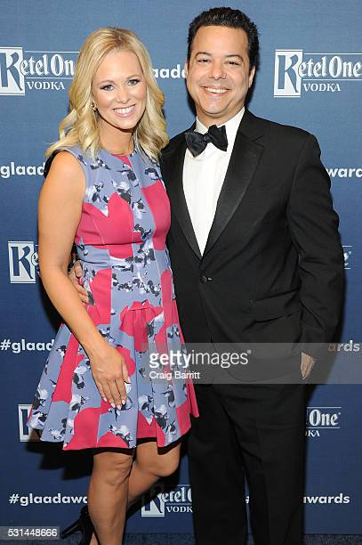 Margaret Hoover and John Avlon attend the 27th Annual GLAAD Media Awards hosted by Ketel One Vodka at the WaldorfAstoria on May 14 2016 in New York...