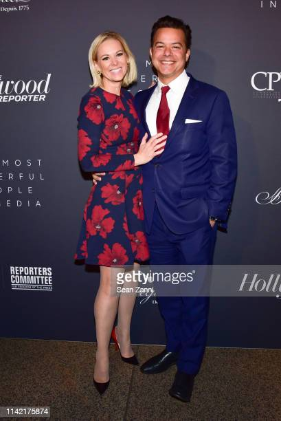 Margaret Hoover and John Avlon attend The Hollywood Reporter Celebrates The Most Powerful People In Media at The Pool on April 11 2019 in New York...