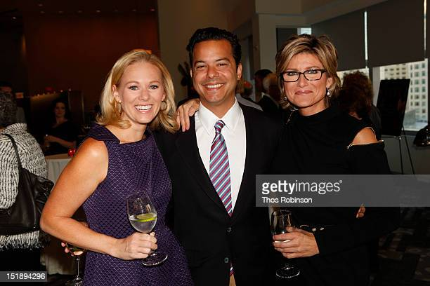 Margaret Hoover John Avalon and Ashleigh Banfield CNN anchor attend Book Launch For Jeffrey Toobin's The Oath at Time Warner Center on September 12...