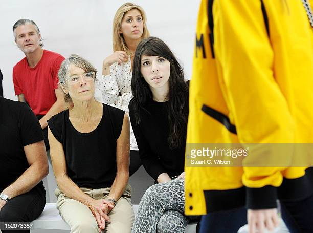 Margaret Howell watches a rehearsal prior to her show on day 3 of London Fashion Week Spring/Summer 2013 at Margaret Howell on September 16 2012 in...