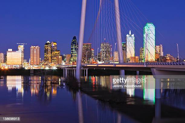 margaret hunt hill bridge - trinity river texas stock pictures, royalty-free photos & images