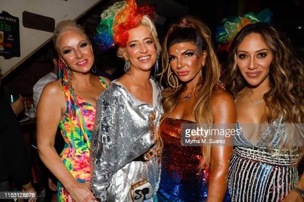 Margaret Joseph, Dorinda Medley, Teresa Guidice and Melissa Gorja pose at the Long Hall Tarven before the World Pride Parade on June 30, 2019 in New...