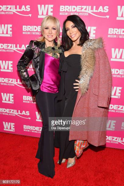 Margaret Josephs and Danielle Staub attend WE tv Launches Bridezillas Museum Of Natural Hysteria on February 22 2018 in New York City