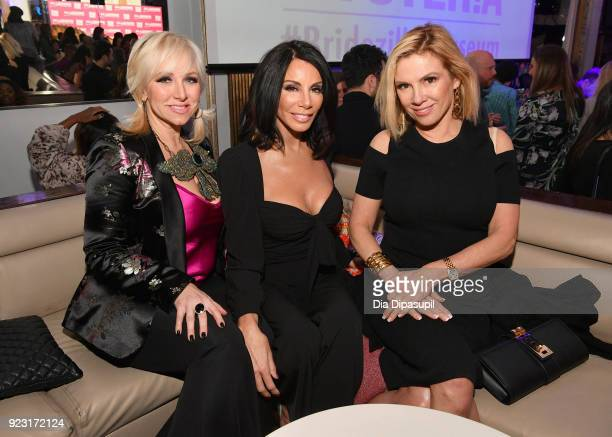 Margaret Josephs Danielle Staub and Ramona Singer attend WE tv Launches Bridezillas Museum Of Natural Hysteria on February 22 2018 in New York City
