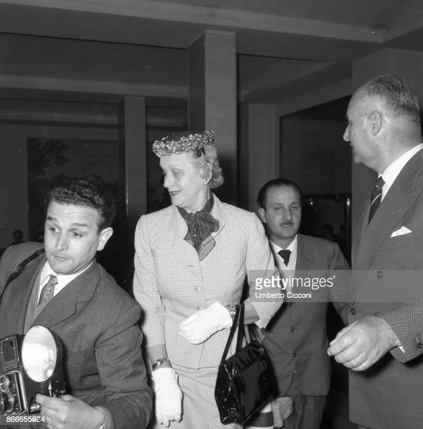 Margaret Katherine Majer mother of the actress and Princess of Monaco Grace Kelly photographed while in Rome in April 1956