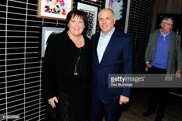 Margaret Kean and Jared Kean attends The Cinema Society with Ravage Wines Synchrony host the after party for Marvel Studios' Black Panther at The...