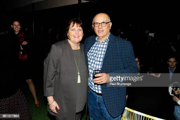 Margaret Keane and Jerry Ajdarovic attend The Cinema Society With Nissan FIJI Water Host The After Party For Solo A Star Wars Story at Le Bain...