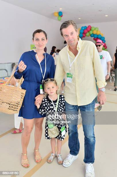 Margaret Kunath Friedrich Kunath and child attend Hammer Museum KAMP 2017 on May 21 2017 in Los Angeles California