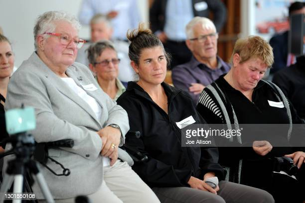 Margaret Lean and Tanya Bradley watch on during the Paralympics New Zealand Celebration Project Community Event at Cooke Howlison Toyota on February...