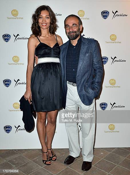 Margaret Made and Giuseppe Tornatore attend the Lancia Cafe during the Taormina Filmfest 2013 on June 16 2013 in Taormina Italy