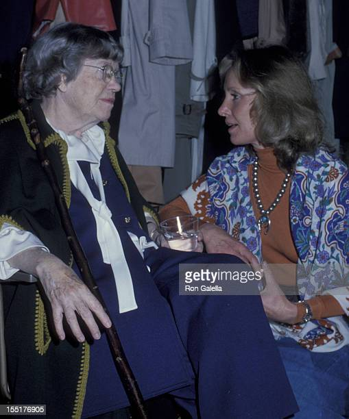 Margaret Mead and Lola Redford attend A Future With Alternatives Benefit on May 5 1978 at St John the Divine Cathedral in New York City