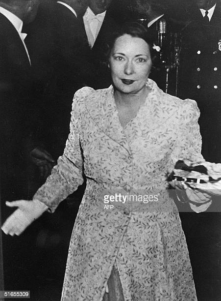 Margaret Mitchell US author of the successful novel 'Gone With The Wind' arrives at the world film premiere of the film of the same name in Atlanta...