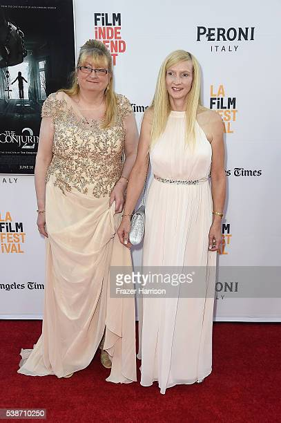 Margaret Nadeen and Janet Winter attend the premiere of The Conjuring 2 during the 2016 Los Angeles Film Festival at TCL Chinese Theatre IMAX on June...