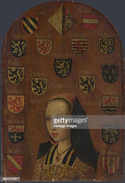 Margaret of Austria , c. 1495. Found in the collection of the National Gallery, London.