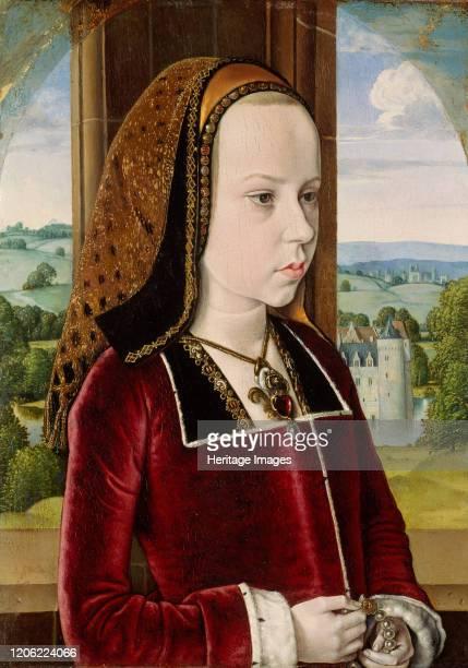 Margaret of Austria, circa 1490. Artist Jean Hey.