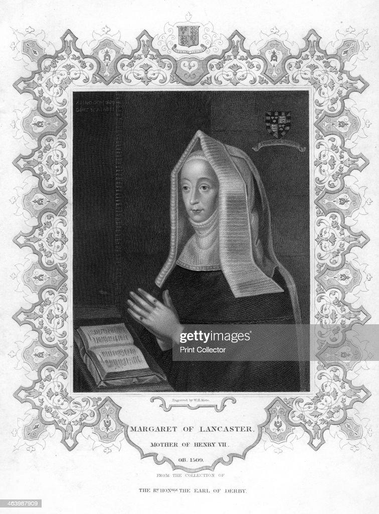 Margaret of Lancaster, mother of Henry VII. Artist: WT Mote : News Photo