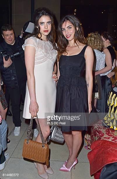 Margaret Qualley and Rainey Qualley attend the Miu Miu show as part of the Paris Fashion Week Womenswear Fall / Winter 2016 on March 9 2016 in Paris...