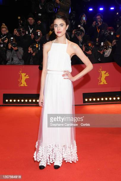 Margaret Qualley arrives for the opening ceremony and My Salinger Year premiere during the 70th Berlinale International Film Festival Berlin at...