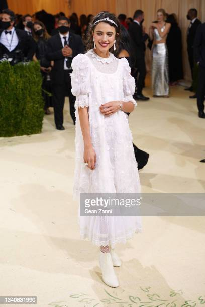 Margaret Qualley attends 2021 Costume Institute Benefit - In America: A Lexicon of Fashion at the Metropolitan Museum of Art on September 13, 2021 in...