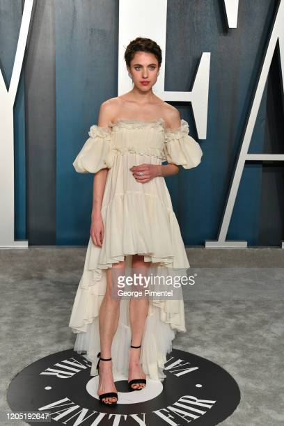 Margaret Qualley attends the 2020 Vanity Fair Oscar party hosted by Radhika Jones at Wallis Annenberg Center for the Performing Arts on February 09,...