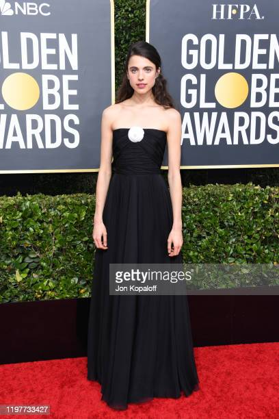 Margaret Qualley attends the 77th Annual Golden Globe Awards at The Beverly Hilton Hotel on January 05 2020 in Beverly Hills California