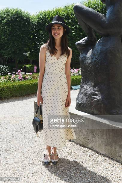 Margaret Qualley attends the Christian Dior Couture Haute Couture Fall/Winter 20182019 show as part of Haute Couture Paris Fashion Week on July 2...