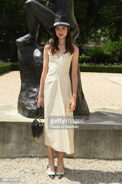 Margaret Qualley attends the Christian Dior Haute Couture Fall Winter 2018/2019 show as part of Paris Fashion Week on July 2 2018 in Paris France