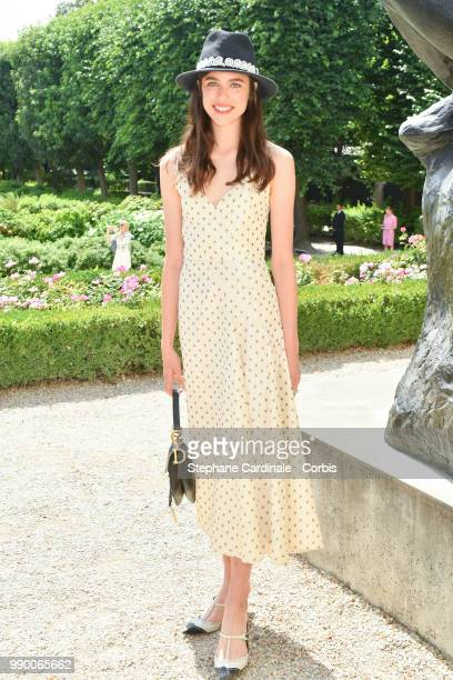 Margaret Qualley attends the Christian Dior Haute Couture Fall/Winter 20182019 show as part of Haute Couture Paris Fashion Week on July 2 2018 in...