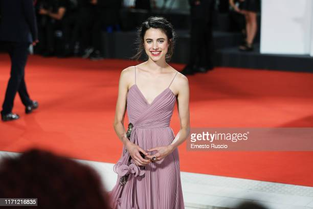 Margaret Qualley walks the red carpet ahead of the Seberg screening during the 76th Venice Film Festival at Sala Grande on August 30 2019 in Venice...