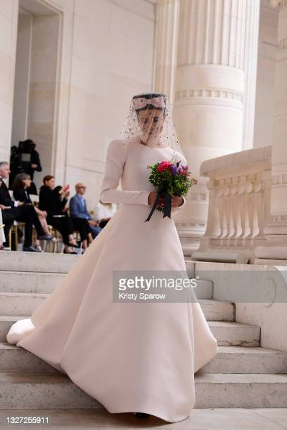 Margaret Qualley walks the runway during the Chanel Couture Haute Couture Fall/Winter 2021/2022 show as part of Paris Fashion Week on July 06, 2021...