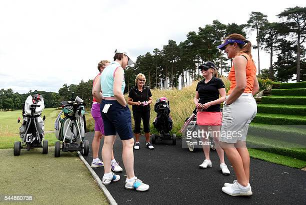 Margaret Richardson and Katie Rule of Mullion Golf Club prior to the WPGA Lombard Trophy National ProAm South Regional Qualifier at Camberley Heath...